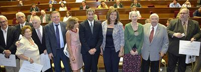 Homenajeados con la medalla de El Cabildo por el aporte a la cultura
