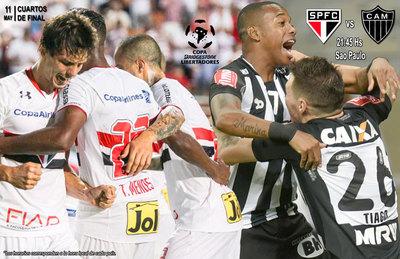 Sao Paulo y Atlético Mineiro abren los cuartos de final de la Libertadores