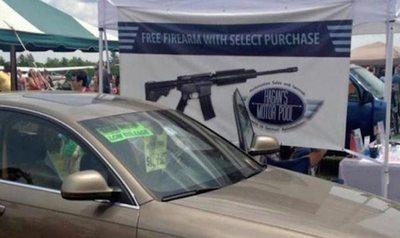 Si compras un auto te regalan un rifle