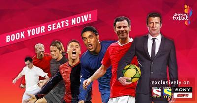 Falcao, Ronaldinho, Giggs y Crespo jugarán futsal en India