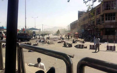 Ataque suicida deja 20 muertos y más de 150 heridos en Afganistán