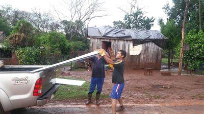 Asisten a familias afectadas por granizadas en Itapúa