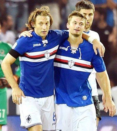 Sampdoria gana por Barreto