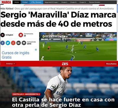 Sergio Díaz anota un golazo para el Castilla