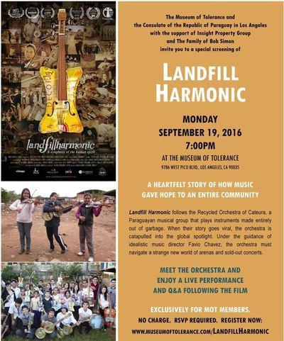 Estreno especial de Landfill Harmonic en el Museo de la Tolerancia de Los Angeles
