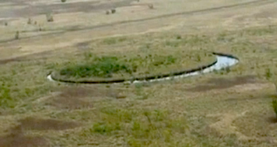 Descubren una misteriosa isla circular en Argentina: ¿Portal extraterrestre?