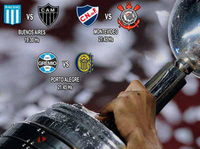 Tres partidos por los octavos de la Libertadores