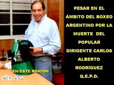 Falleció Carlitos Rodríguez un amigo del boxeo paraguayo