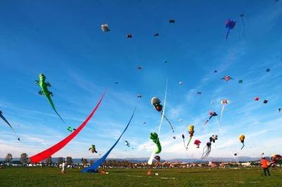 Pandorgas itapuenses vuelan en cielo francés
