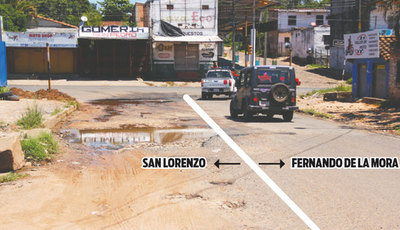 Reparan por la mitad una calle que divide 2 ciudades