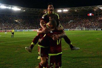 Venezuela aplasta 5-0 a Bolivia
