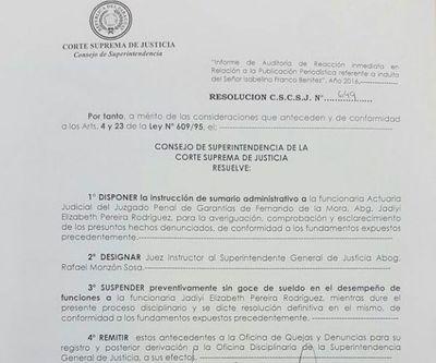 Sumarian y suspenden a actuaria por caso del preso indultado por error