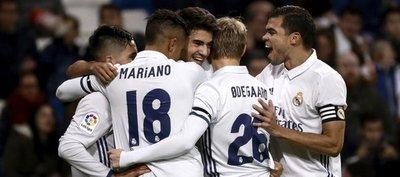 Real Madrid golea y sella pase a octavos de Copa del Rey