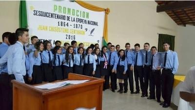 Egresan 73 nuevos bachilleres agropecuarios en Caazapá y Misiones