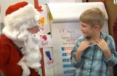 Niño pensó que hablaba con Papá Noel y cuando descubrió de quién se trataba su sorpresa fue mayúscula