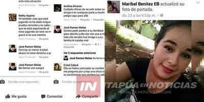 QUINCEAÑERA DESAPARECIDA DE MIRANDA ESTARÍA POR C. DEL ESTE