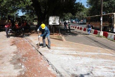 El MOPC reanudó la construcción del corredor central del metrobús