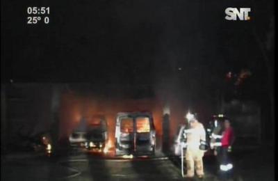 Se quemaron vehículos en el Pequeño Cottolengo