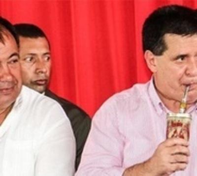 Cartes: Inaugura tres cuadras de empedrado e insiste en reelección
