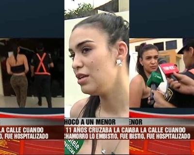 Ana Laura Chamorro rompió el silencio tras atropellar a un niño de 11 años