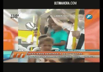 Descuidistas fueron detenidos por pasajeros