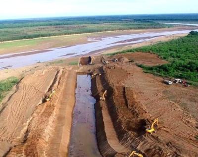 Abrirán tapón para ingreso de agua del río Pilcomayo al lado paraguayo