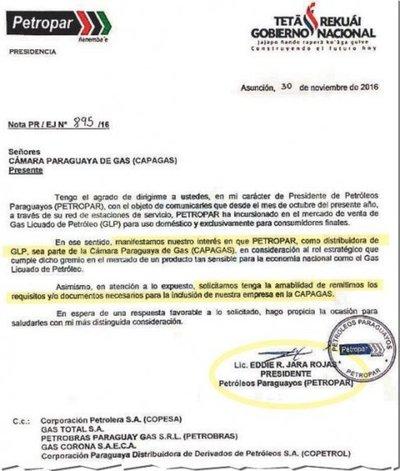 """Califican a privados de """"cártel del gas"""", pero Petropar pide asociarse a Capagas"""