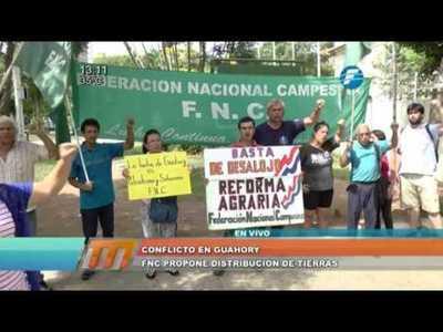 Guahory: FNC propone permanecer en la zona