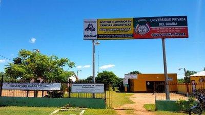 Clausuran más de 20 sedes de la Universidad del Guairá