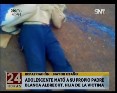 Un adolescente mató a su propio padre en Mayor Otaño