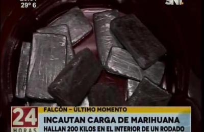 Policía incautó 200 kilos de marihuana en Falcón