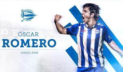 Óscar Romero ya fue presentado en Alavés