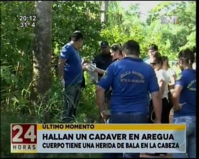 Macabro hallazgo en un camino vecinal en Areguá