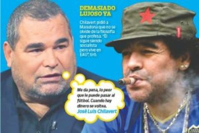 "CHILA: ""Maradona es un panqueque, me da pena"""