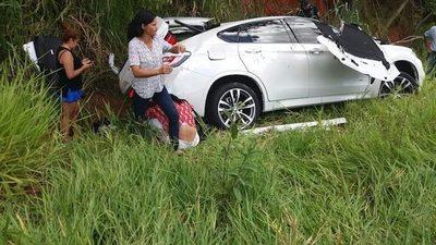 Presunto narco murió en un feroz accidente