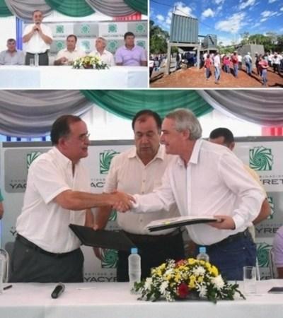 Yacyretá entrega planta de tratamiento a pobladores de Tomás R. Pereira