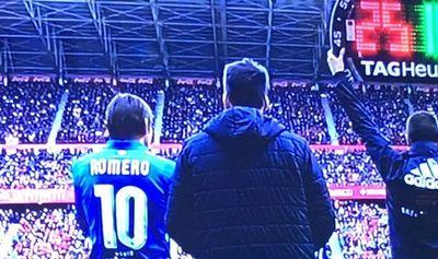 Debut y asistencia de Romero