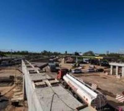 Cierre del tránsito en zona del súper viaducto, recién para el jueves