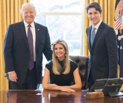 Ivanka Trump ocupa el sillón presidencial y desata una polémica