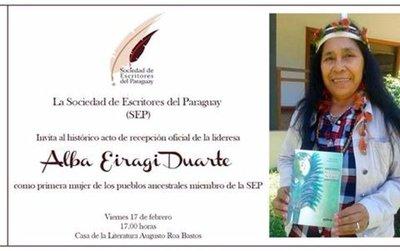Una 'poeta guaraní' en la Sociedad de Escritores del Paraguay