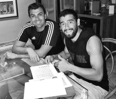 Rodrigo Burgos llegó y firmó