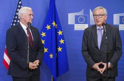 """Pence expresa en Bruselas el """"fuerte compromiso"""" de Trump con la UE"""