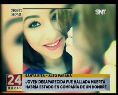 Joven desaparecida fue hallada muerta en Alto Paraná