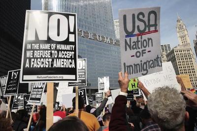 """Protesta contra Trump: """"¡No es mi presidente"""" gritan en EEUU"""