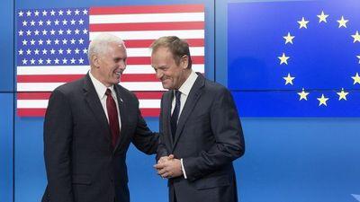 """Pence declaró """"pleno compromiso"""" de EE.UU. con la Unión Europea"""