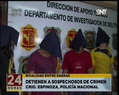 Policía detuvo a cuatro jóvenes sospechosos de matar a hincha luqueño