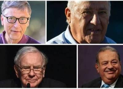 Los 8 millonarios que tienen más dinero que la mitad de la población del mundo