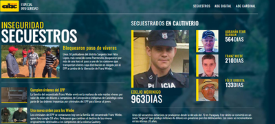 """Cuatro secuestros, en la """"agenda"""" de Cartes"""