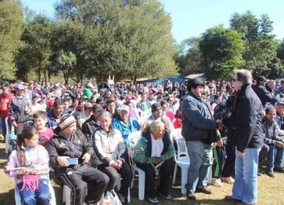 El presidente del INDERT, en encuentro con campesinos del Alto Paraná