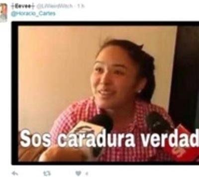 """Cartes """"celebra"""" liberación y es escrachado en Twitter"""
